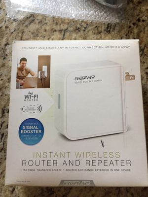 Crystalview Instant Router and Repeater for Sale in Murrysville, PA