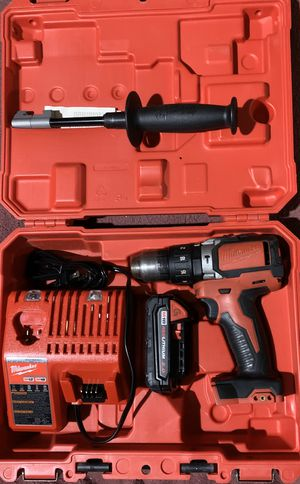 Milwaukee 18V Lithium-Ion Cordless Hammer Driver-Drill,-Drill Batter, fastening and hammer Drilling applications with charger Pick Up Only / No Trade/ for Sale in Plantation, FL