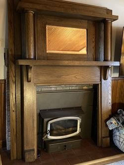Antique oak fireplace mantle for Sale in Boring,  OR