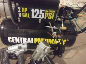 Air compressor an nailers for Sale in North Kansas City, MO