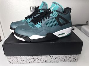 Retro Jordan 4 teal green and obsidian 5 size 8.5 for Sale in San Jose, CA