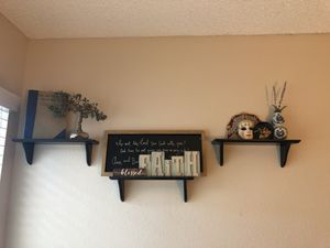 3 brown wall shelves for Sale in San Diego, CA
