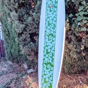 7'6 Surfboard Funboard Fins And Leash Bag Included for Sale in Los Angeles, CA