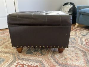 Dark Brown storage ottoman for Sale in Falls Church, VA
