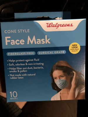 Face Mask. Surgical grade- cone style for Sale in Carson, CA