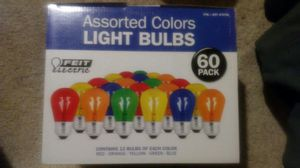 Feit Electric Assorted Color Light Bulbs (60 Bulbs). for Sale in Baltimore, MD