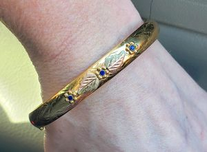 14k Gold Sapphire Bangle Bracelet for Sale in Puyallup, WA