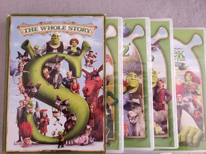 Shrek the whole story 5 movie collection DVD for Sale in Grapevine, TX