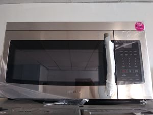 Samsung black and stainless steel over the range brand new scratch and dent microwave for Sale in Cleveland, OH