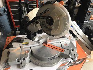 "Ridgid 12"" Dual Bevel Miter Saw- Used for Sale in Clovis, CA"