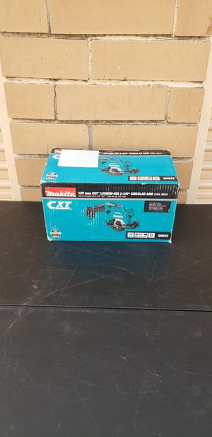 "Makita 3 3/8"" Circular Saw 12v New Tool Only Nueva for Sale in Irving, TX"
