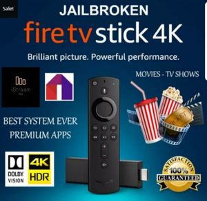 Fire TV Stick 4K Jailbroken & Fully Loaded! Free Live TV, Movies, VOD, Sports, Music, Kids and more! for Sale in Prospect Heights, IL