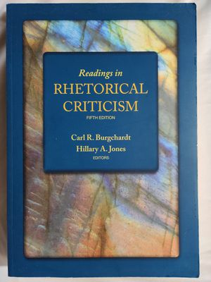 Readings in Rhetorical Criticism. 5th Edition. Carl R. Burgchardt, Hillary A. Jones for Sale in Clovis, CA