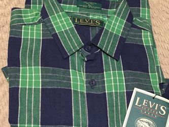 Shirt, Flannel Levi's Green & Blue, Size Large for Sale in Graham,  NC