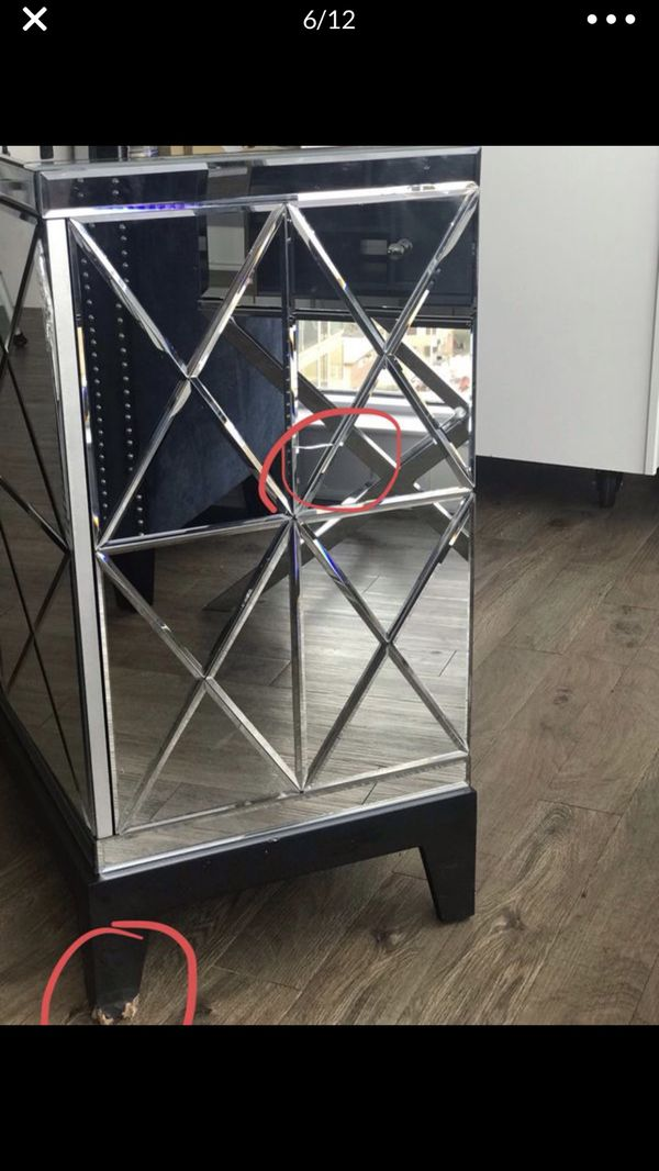 Large Mirrored Harlow Cabinet/TV Stand