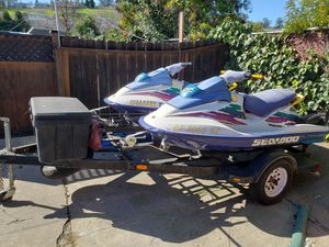 1996 Seadoo GSX (matched pair) with trailer for Sale in Martinez, CA
