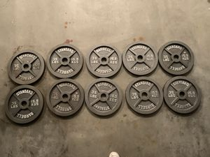 Mint Condition Olympic 35LB Barbell Plate Pairs Home Gym for Sale in Shelton, CT