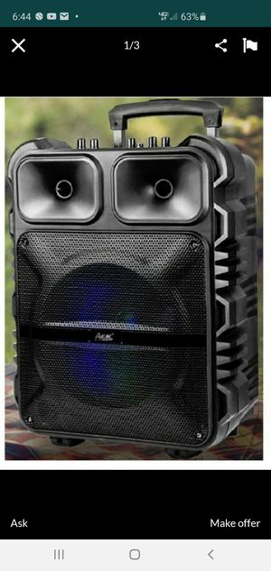 """New 12"""" subwoofer rechargeable, bluetooth, aux, usb, sd,fm,wireless microphone for Sale in Riverside, CA"""