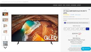 """43"""" Class Q60R QLED Smart 4K UHD TV (2019) for Sale in Milpitas, CA"""