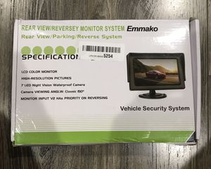 Emmako rear view/Parking/Reverse Monitor System with 4.3 inch screen for Sale in Tustin, CA