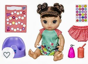 Baby Alive Potty Dance Baby: Talking Baby Doll with Brown Hair, for Sale in Hesperia, CA
