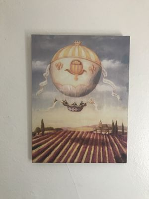 Hot air balloon print on canvas for Sale in Portland, OR