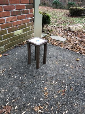 """12"""" square tile table/plant stand for Sale in Phoenix, MD"""