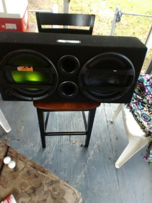 """12"""" subs with box, fusion with replacement sdx pro audio on right speaker, for Sale in Jacksonville, FL"""