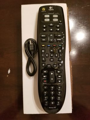 Logitech Harmony 300 Remote Control with USB Cable for Sale in Garden Grove, CA