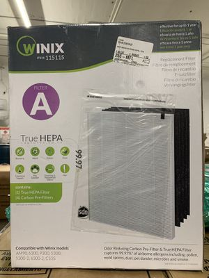 Winix True HEPA + 4 Filter Activated Carbon Replacement Filter A for Sale in Newark, NJ