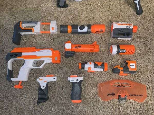 NERF Modulus Gun and MANY accessories