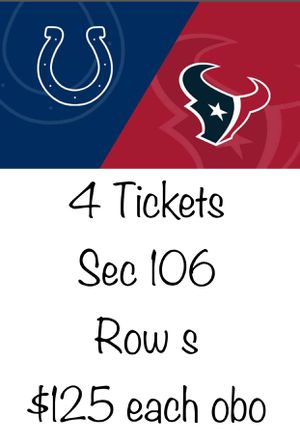 Texans colts tickets for Sale in Houston, TX