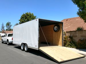 """20' enclosed rental trailer. 102"""" wide x 7' tall box. Power roof vent and light. Carry 7,000#. Rent for $150/ day. for Sale in Irvine, CA"""
