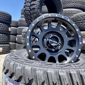 """17"""" METHOD Off-Road Wheel & Tire ✅ 17"""" Method NV Wheels ✅ 33x12.50R17 Kanati MT Tires Package Deal ONLY $1499 ( Limited Time Offer ) for Sale in La Habra, CA"""