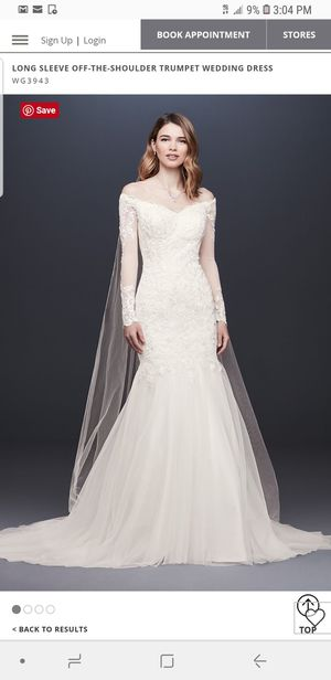 David's bridal mermaid wedding dress for Sale in Los Angeles, CA