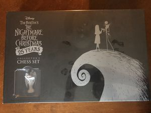 Tim burton the Nightmare before Christmas 25 year collection chess set for Sale in Gresham, OR
