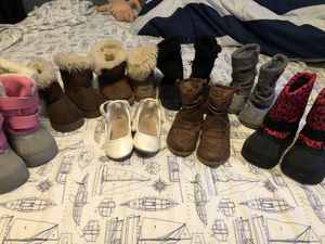 Toddler girl boots- UGGS, snow boots, furry boots, dress shoes, cowgirl boots for Sale in Bellport, NY