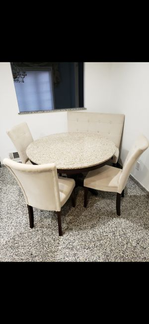 White Granite Kitchen Table for Sale in Stamford, CT