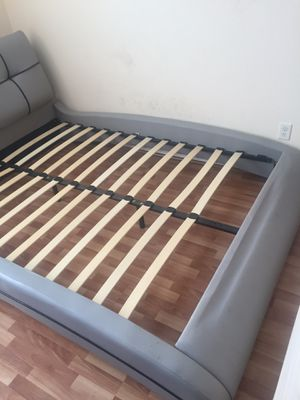 Queen bed frame come with free bed for Sale in Fort Worth, TX