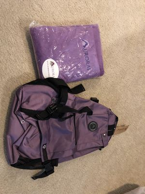 New yoga towel and backpack for Sale in Haymarket, VA