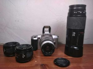 Minolta film cameras with. Exr. Lens. Macro 70-200 mm . 28 mm. & 50mm for Sale in Aurora, CO