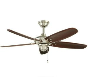 Home Decorators Collection Altura 48 in. Indoor/Outdoor Brushed Nickel Ceiling Fan for Sale in Houston, TX