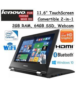 Lenovo Touchscreen 2 in 1 laptop 64GB SSD 2GB RAM for Sale in Santa Ana, CA
