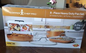 Copper Chef Pro 8-Piece Heavy Duty Pan Set for Sale in Marion, TX