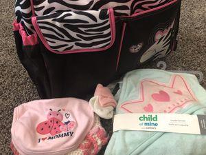 Zebra diaper bag and towel for Sale in Medford, OR