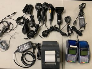 Lot of Credit Card Machines Receipt Printer Barcode Scanners Retail for Sale in Albuquerque, NM