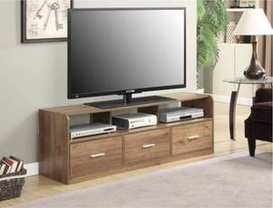 """TV Stand, for TVs up to 60"""", Mocha Colors j3- 1023 for Sale in St. Louis, MO"""
