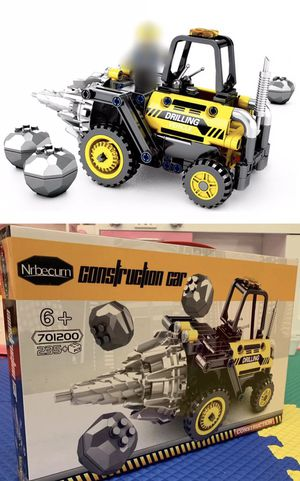 NEW IN BOX 235 pcs Puzzle Solving Construction Drilling Vehicle Brain Storming Educational Building Toy 6 and Up for Sale in San Dimas, CA
