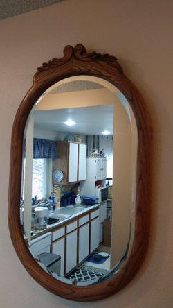 Oak wood framed mirror for Sale in Everett,  WA