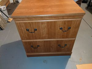 Two-drawer wooden file cabinet for Sale in Lisle, IL